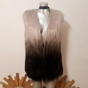 MIAMI OMBRE Faux Fur vest